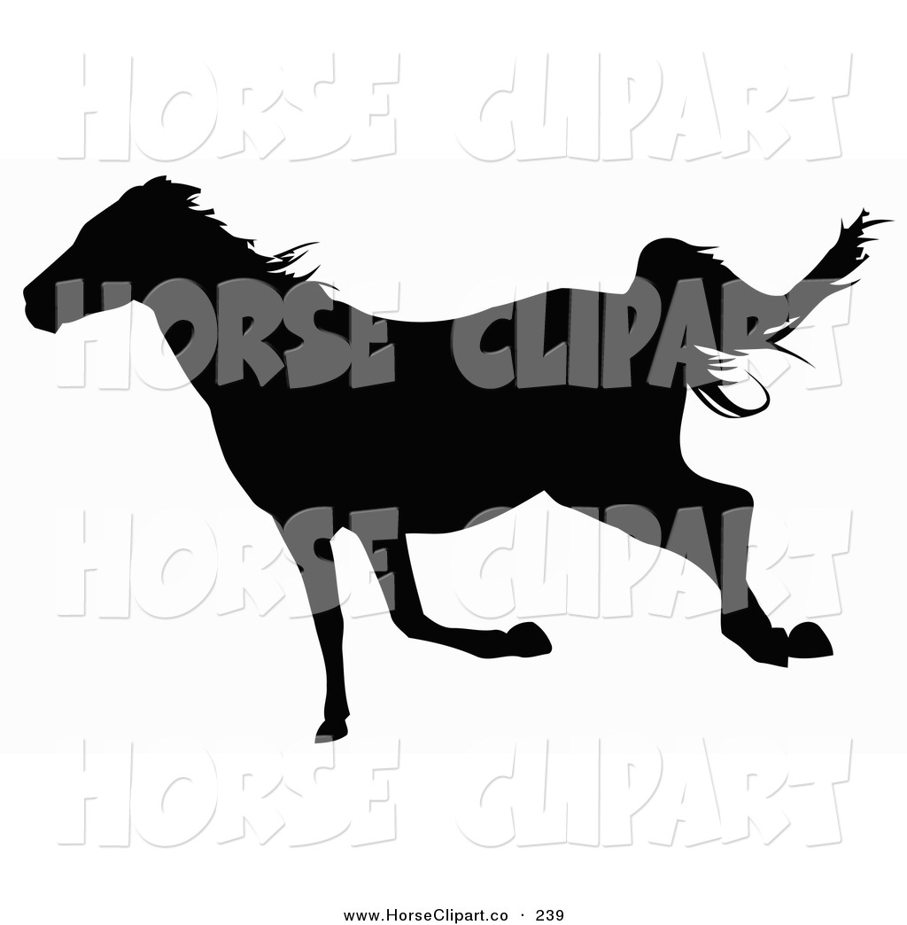 1024x1044 Trotting Horse Silhouette