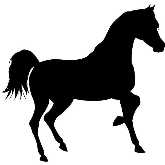 650x650 Trotting Horse Stencil Stenciling, Crafty And Horse