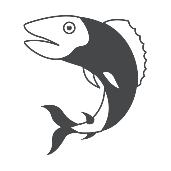 550x550 Silhouette Of Trout Fish