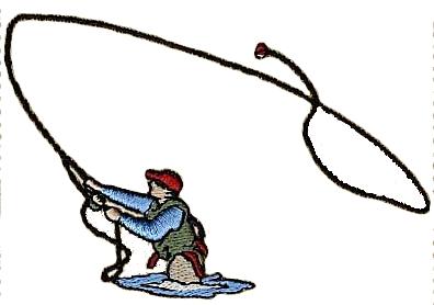 396x278 Fishing Rod Clipart Trout Fishing
