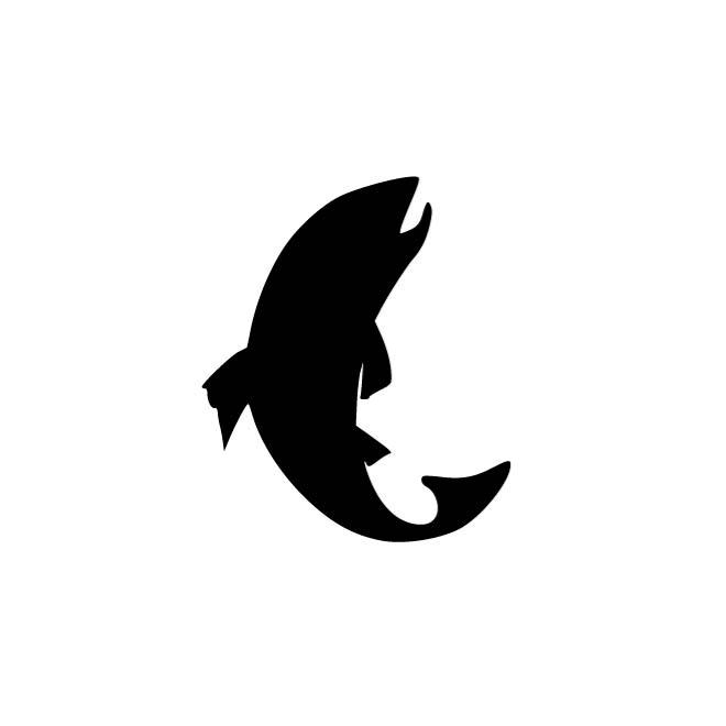 660x660 Silhouette Of A Trout