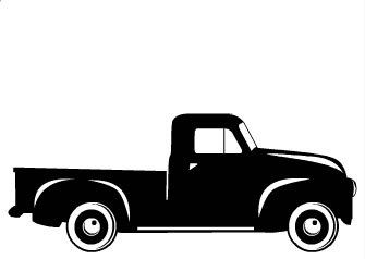Truck And Trailer Silhouette
