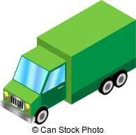 195x194 Green Truck. Truck With Trailer And Truck Silhouette Clip Art