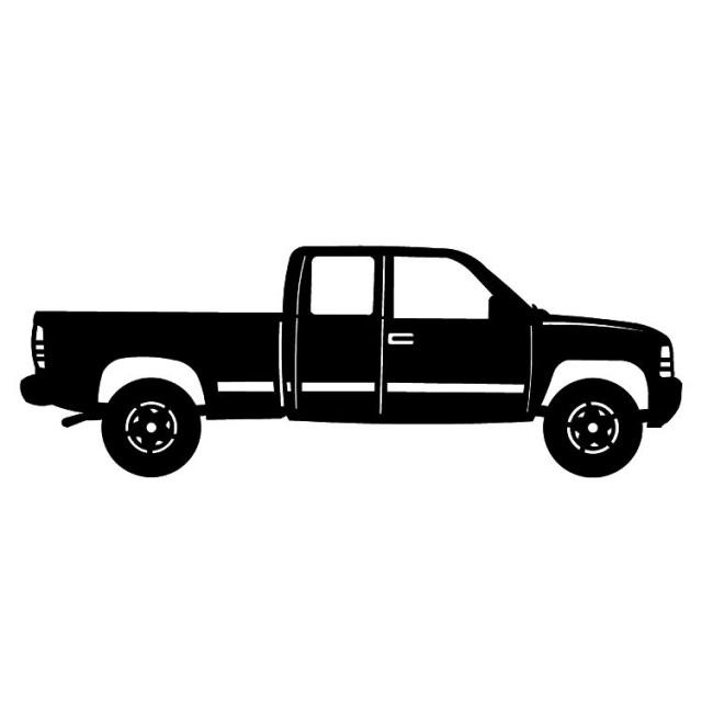 640x640 Metal Truck Silhouettes