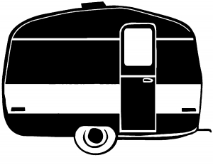 300x232 Camper Trailer Car Or Truck Window Decal Sticker