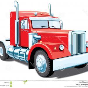 300x300 Stock Illustration Silhouette Truck Peterbilt Isolated White