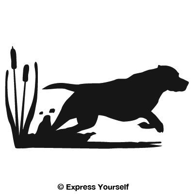 400x400 The Get It Boy! Lab Hunting Dog Decal Will Look Great On Your