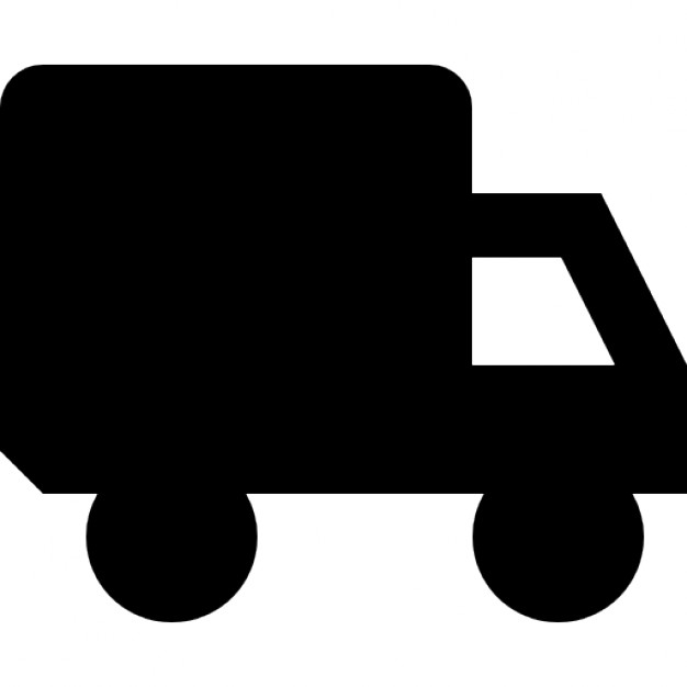 626x626 Truck With Small Window Silhouette Icons Free Download