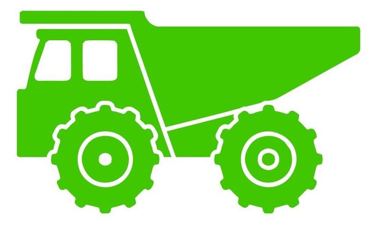 736x446 Dump Truck Silhouette