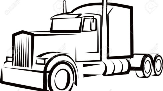 truck and trailer silhouette at getdrawings com