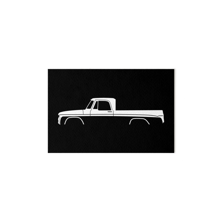 900x900 Truck Silhouette