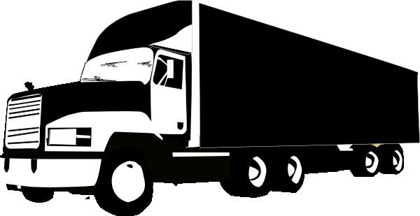 600x309 Truck Silhouette 2 Clip Art