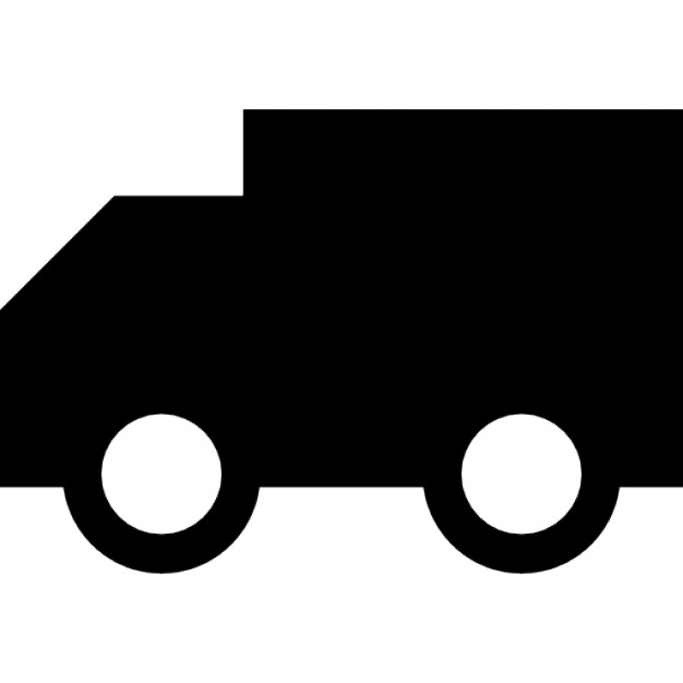 626x626 Truck Silhouette Facing The Left Direction Icons Free Download