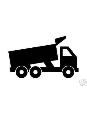 300x390 Dump Truck Silhouette Vinyl Stickerdecal Road Building Fertie