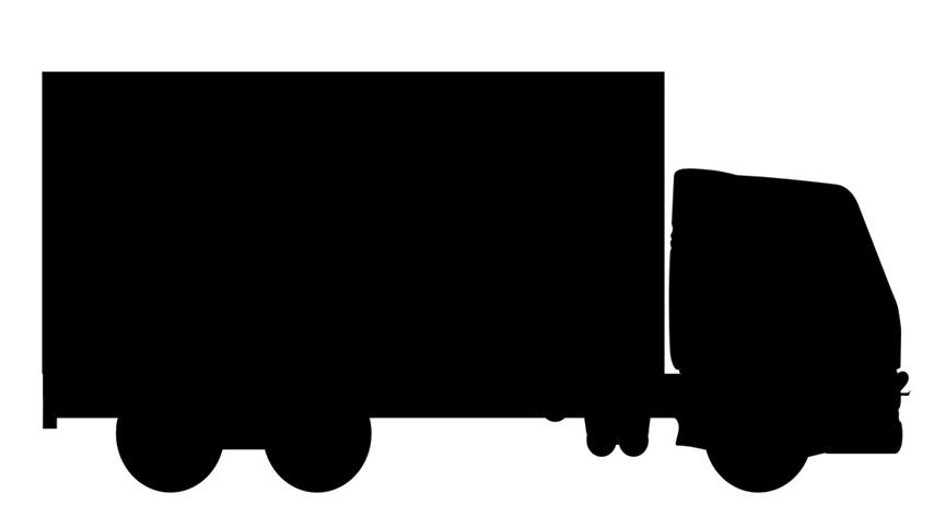 854x462 Delivery Truck Silhouette 1 Decal Sticker