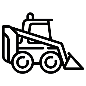 283x283 Loader Truck Silhouette Silhouette Of Loader Truck