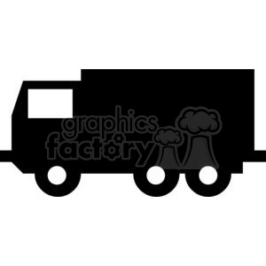 300x300 Royalty Free Uhaul Box Truck Silhouettes 379794 Vector Clip Art