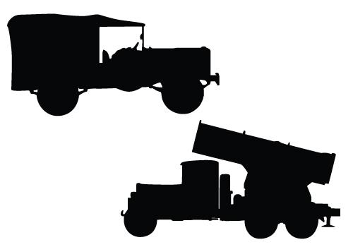 500x350 Simi Truck Silhouette Clipart