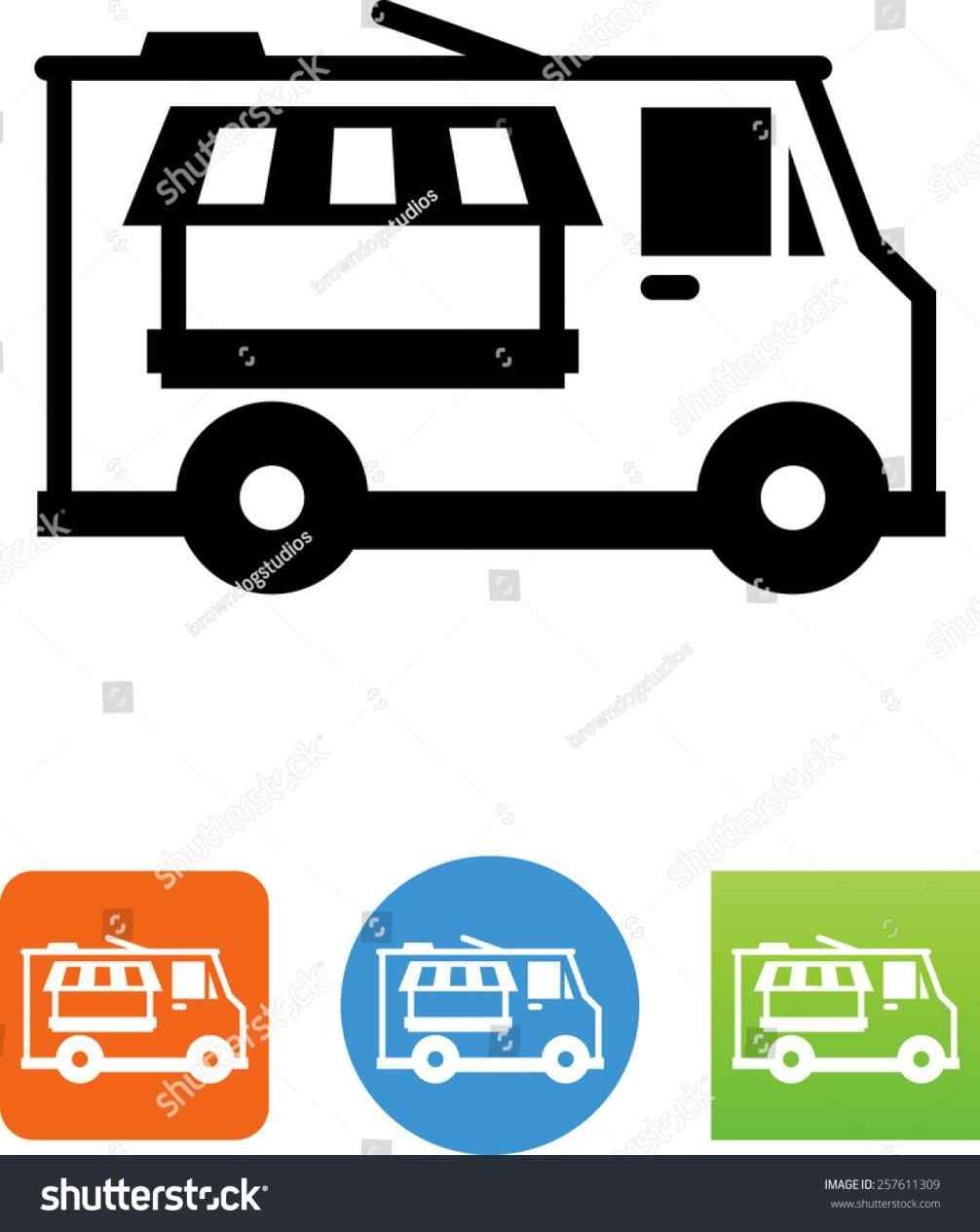 1006x1264 The Images Collection Of Royaltyfree Food Truck Silhouette Icon