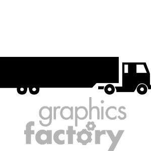 300x300 Truck Silhouette Clipart