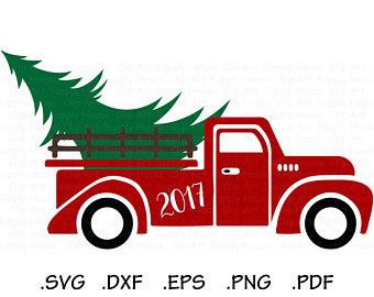 340x270 Truck Tree Stencil Etsy