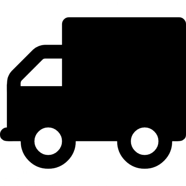 626x626 Delivery Truck Silhouette Icons Free Download
