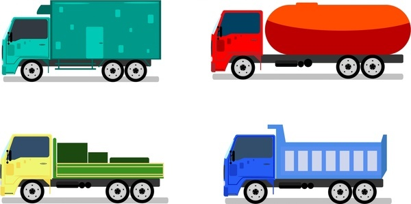 600x299 Truck Vector Free Vector Download (455 Free Vector) For Commercial