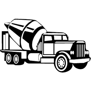 300x300 8 Cement Truck Silhouette Vector Images