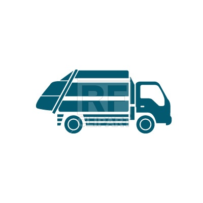400x400 Garbage Truck Silhouette Free Vector Clip Art Image