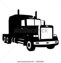 236x246 Semi Truck Wall Decal