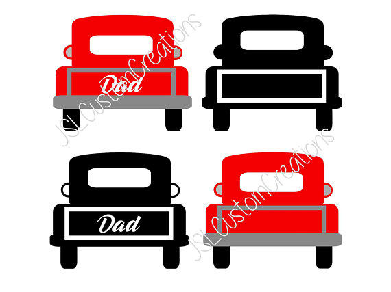 570x427 Dad Vintage Truck SVG EPS DXF Png Cut File For Silhouette