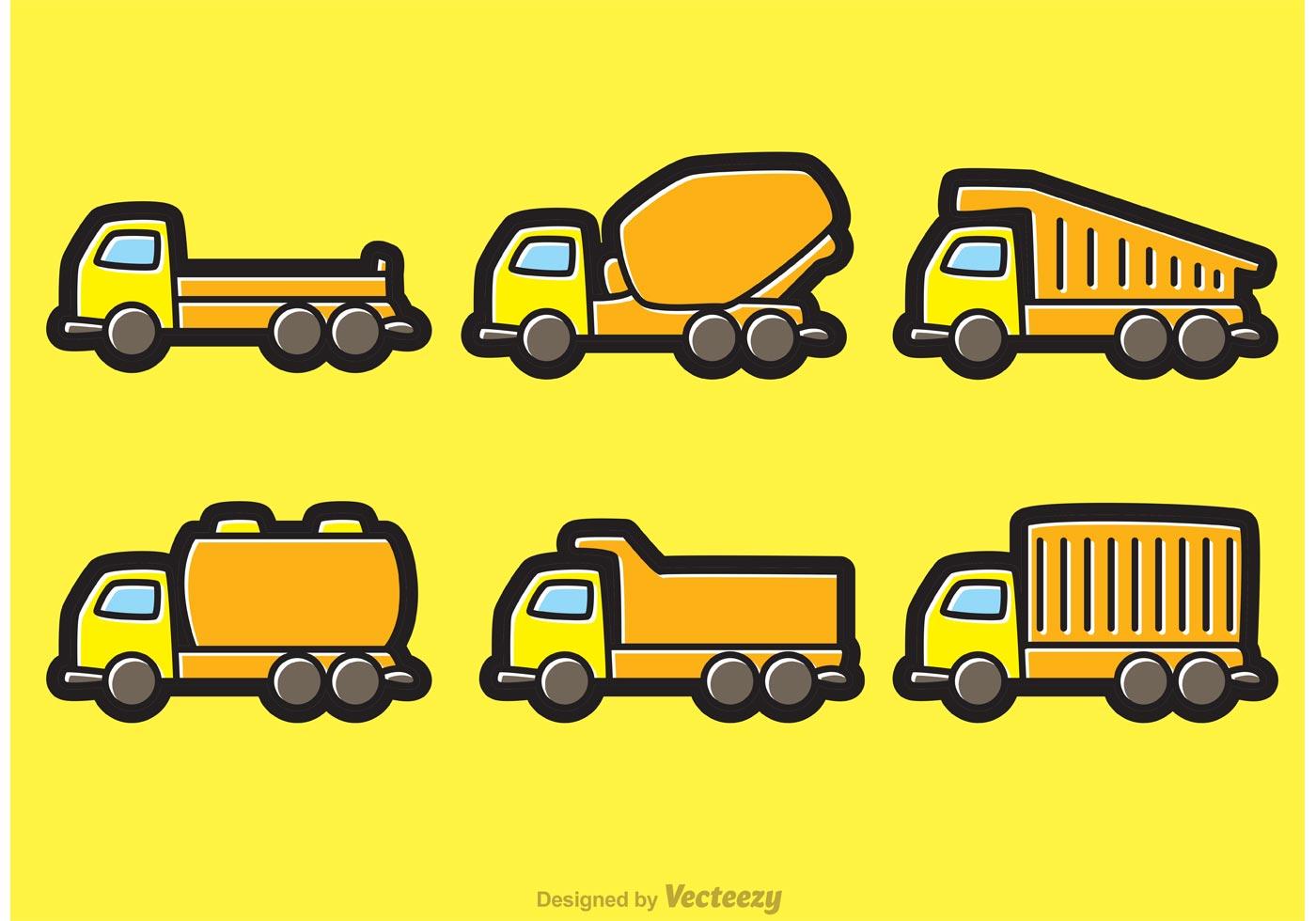 1400x980 Dump Trucks Cartoon Vectors