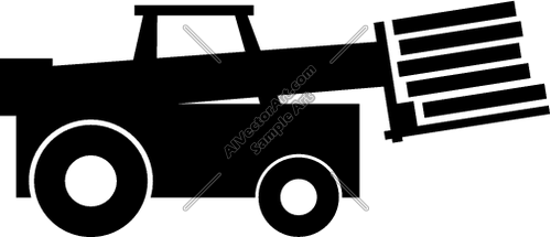 500x215 Forklift Truck With Pallets Silhouette Clipart And Vectorart