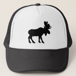 260x260 Moose Silhouette Trucker Hats Zazzle