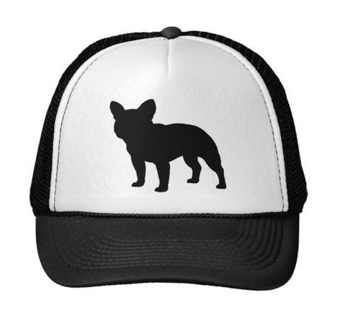 480x454 French Bulldog Silhouette Adjustable Trucker Hat Barking Bullies