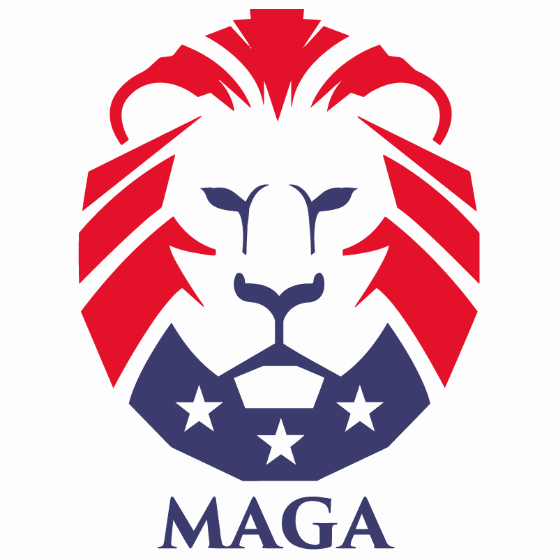800x800 The Trump Lion Guard Maga Vector Logo Free Vector Silhouette