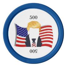 216x216 Donald Trump Poker Chips Zazzle