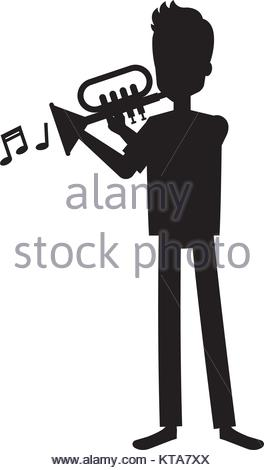 264x470 A Man Playing Trumpet Cornet Jazz Music Fusion Gig Concert