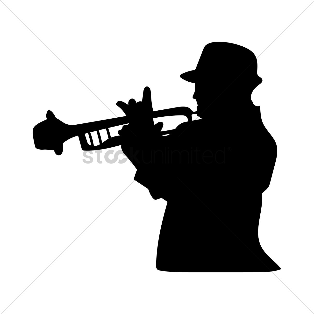 1300x1300 Man Playing Trumpet Vector Image
