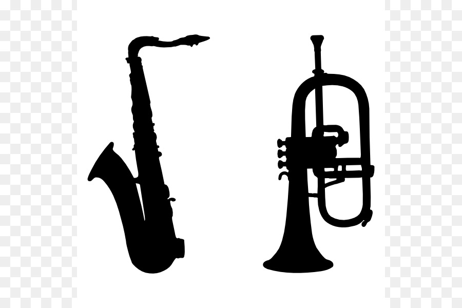 900x600 Mellophone Saxophone Silhouette Trumpet Clip Art