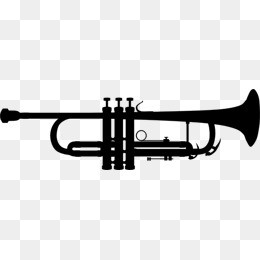 260x260 Trumpet, Silhouette, Sax Png And Psd File For Free Download