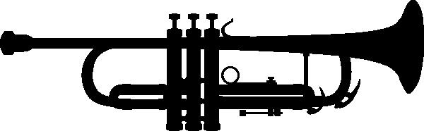 600x186 Trumpet Silhouette Clip Art Free Vector 4vector