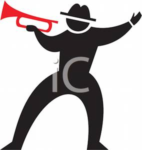 284x300 Black Silhouette Of A Male Trumpet Player