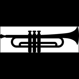 263x262 Free Svg Trumpet Silhouette