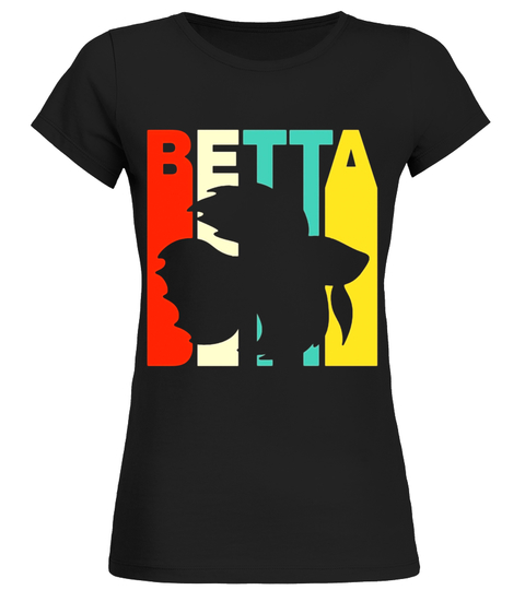 480x540 Vintage Style Betta Silhouette T Shirt