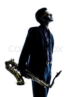 240x320 One Caucasian Man Saxophonist Playing Saxophone Player In Studio