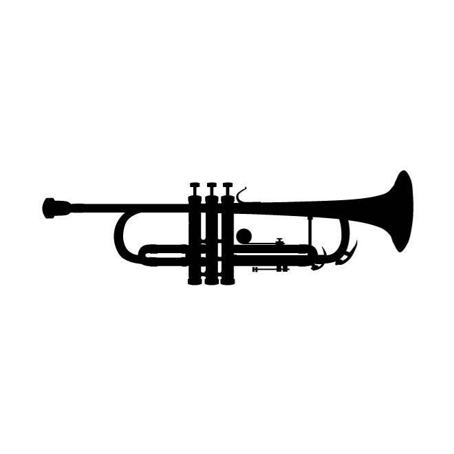 660x660 Trumpet Silhouette Graphics