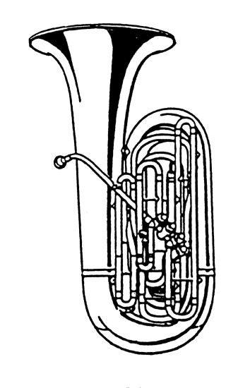 354x550 Tuba Clipart Black And White