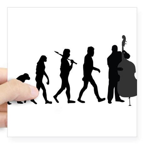 460x460 Double Bass Player Square Stickers