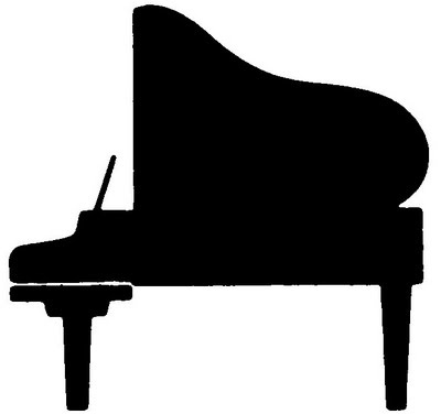 400x376 Free Clipart Musical Instruments Silhouette Collection